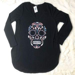 Torrid skull black long sleeve thermal shirt